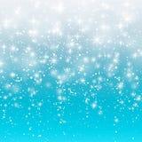 Spada śnieg na błękitnym tle Wektorowa ilustracja 10 eps Abstrakcjonistyczny biały błyskotliwość płatka śniegu tło Magiczny wigil royalty ilustracja