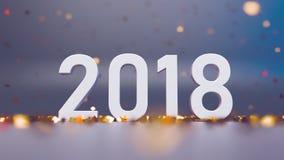 Spada Błyszczący confetti wokoło nowy 2018 zdjęcie wideo