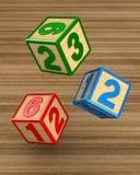 Spada bloki z liczbami ilustracja 3 d Obraz Royalty Free