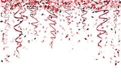 Spada czerwoni confetti Zdjęcia Royalty Free