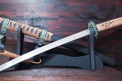 Spada del samurai di Katana Fotografia Stock