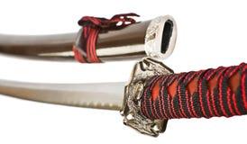 Spada del samurai isolata Fotografia Stock Libera da Diritti