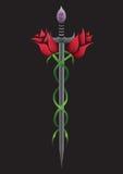 Spada della Rosa Immagini Stock Libere da Diritti