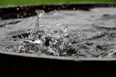 Spada deszcz w baryłce Obrazy Royalty Free