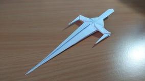 Spada di origami immagini stock libere da diritti