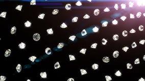 Spada diamenty, piękny tło Bezszwowa zapętlająca animacja royalty ilustracja