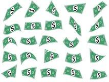 Spada dolary, pieniądze gotówki kształty Obrazy Royalty Free