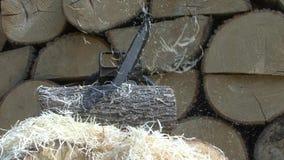 Spada drewniani golenia od łańcuszkowego saw zbiory