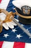Spada e guanti militari Immagine Stock Libera da Diritti