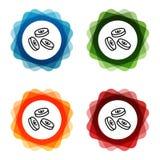 Spada euro Ukuwa nazw? ikony Eps10 Wektor ilustracji