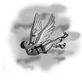 spadać Icarus obrazy stock