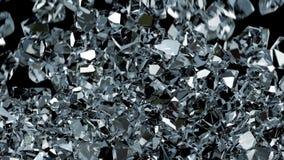Spada klejnoty wypełniają parawanowego (diament, szkło/rubin) ilustracja wektor