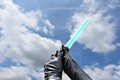 Spada laser blu fotografia stock