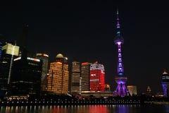 Spada laser di Shanghai Fotografia Stock Libera da Diritti