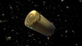 Spada 9mm pociska obudowy royalty ilustracja