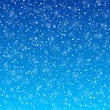 Spada śnieg Obrazy Stock