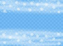 Spada płatek śniegu płatki na odosobnionym tle, miecielica z wiatrem Narzuta projekta element Święta dekorują odznaczenie domowyc ilustracji