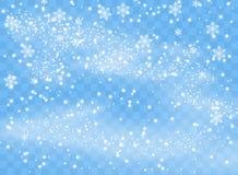 Spada płatek śniegu płatki na odosobnionym tle, miecielica z wiatrem Narzuta projekta element Święta dekorują odznaczenie domowyc royalty ilustracja