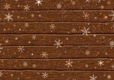 Spada płatki śniegu na deskach Obrazy Royalty Free