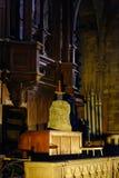 Spada in pietra nella cattedrale di Mulhpuse Fotografia Stock Libera da Diritti