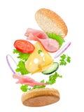 Spada wyśmienicie kanapka obrazy stock