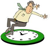 Spada z powrotem świateł dziennych savings czas ilustracja wektor
