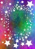 spadające gwiazdy ilustracja wektor