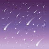 spadające gwiazdy tło niebiański ilustracja wektor