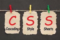 Spadający kaskadą styl Ciąć na arkusze CSS zdjęcie royalty free