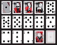 Spadar som spelar kort Royaltyfria Foton
