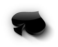 Spade. Beautiful black isolated 3d Spade Stock Images