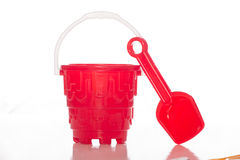 Spade and Bucket Stock Image