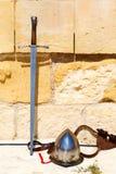 Spade, casco contro Immagine Stock Libera da Diritti