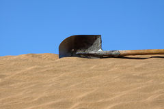 The spade in desert. The spade in Ba Dan Ji Lin desert of Inner Mongolia, China stock photos