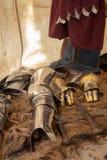 Spade ed armatura medievali fotografia stock libera da diritti