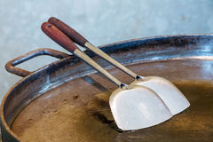 Spade of frying pan Royalty Free Stock Photos