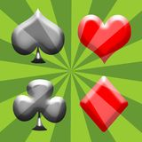 Spade, Heart, Club and Diamond Stock Image