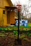 Spade i trädgården Arkivbilder