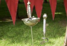 Spade medievali del metallo Fotografia Stock Libera da Diritti