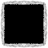 Spade Picture Frame. Decorative border with copy space Stock Photos