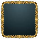 Spade Picture Frame - Gold Stock Photo
