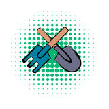 Spade and pitchfork comics icon Royalty Free Stock Photography