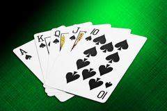 Spade Royal Flush Stock Photography