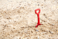 Spade in the sand Stock Image