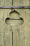 Spade shaped door decoration Royalty Free Stock Photo