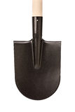 Spade shovel with  wood handle Stock Photo