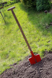 Spade in the soil Royalty Free Stock Photography