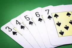 Spade straight flush Stock Images