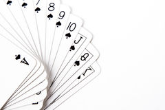 Spade Suit of playing Cards Stock Images