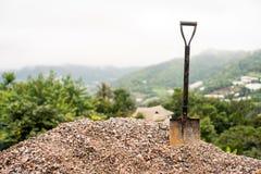 spade tool on gravel Stock Photos